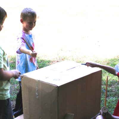 Creative play: Fort building