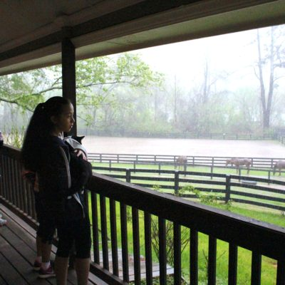 Rainy Day Fun: We go to the main house during thunderstorms.